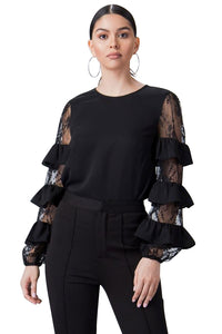 Ruffle and Lace Blouse