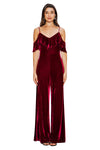 Velvet Cold Shoulder Jumpsuit