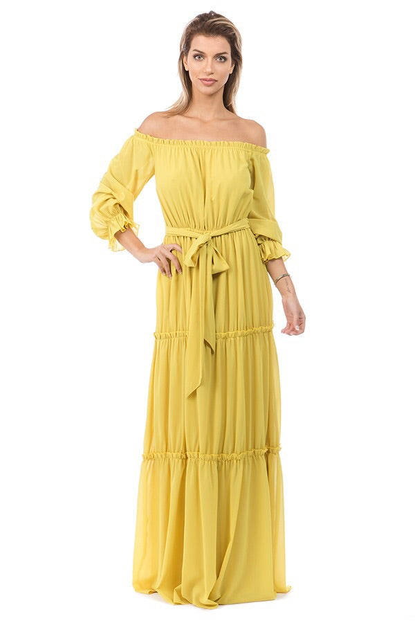 Goddess Maxi (Lime Yellow)