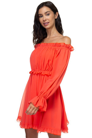 Off the Shoulder Babydoll Dress