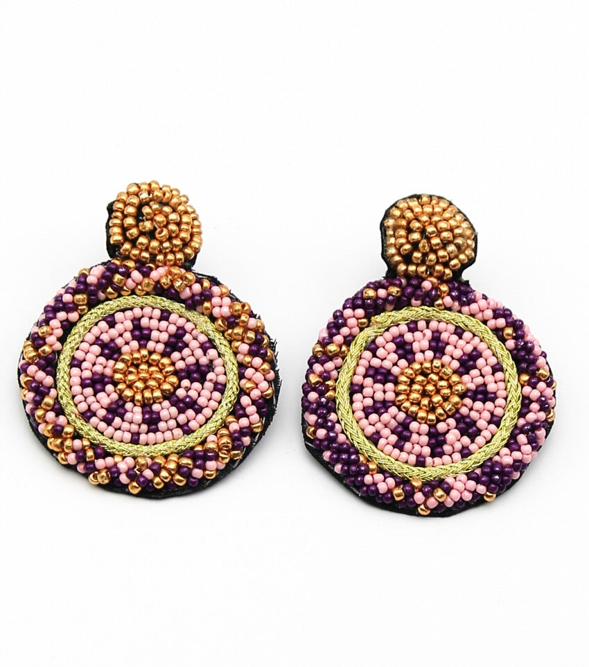 India Beaded Drop Earrings