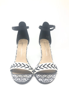 Chinese Laundry Lovely Girl Black and White Floral Heels