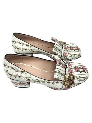 Gucci Floral Marmont Loafers
