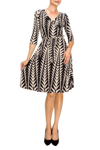 Venechia Print Wrap Dress