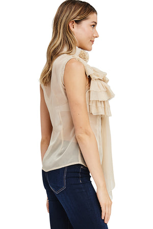 Sheer Ruffle Blouse
