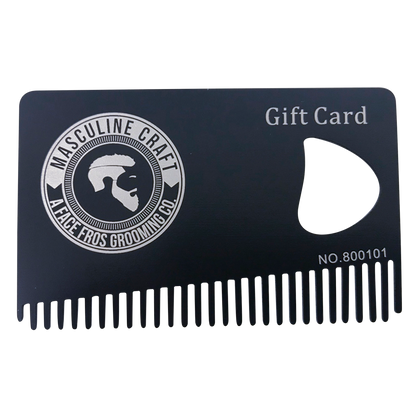 Stainless Steel Gift Card - Masculine Craft