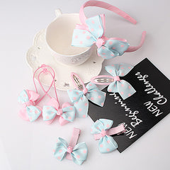 Dot Bow Headband - 7pcs