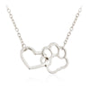 Image of Hollow Pet Paw Footprint Necklaces