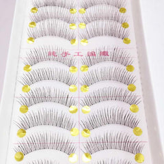 10 Pairs Natural Pretty Long Thick False Eyelashes