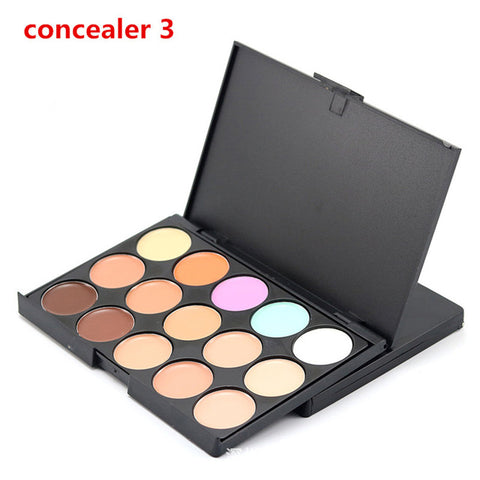 15 Colors Natural Professional Facial Concealer Palettes