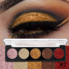 5 Color Palette Glitters Eyeshadow Cosmetic