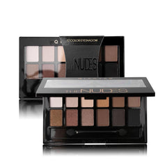 12 Colors Pro Nude Earth Color Makeup Eyeshadow Palette with Brush
