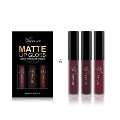 3 Pcs/set Makeup Matte Lipstick Kit 2017