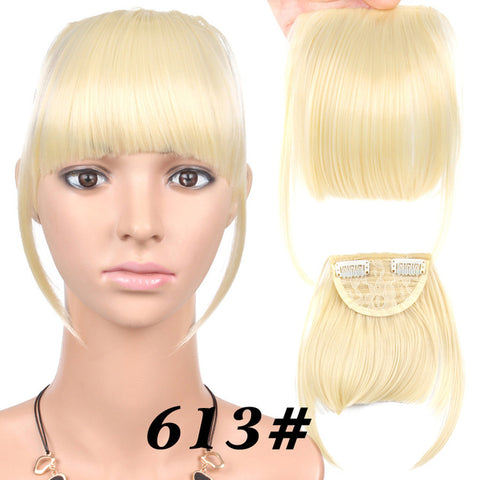 Black Brown and Blonde Fake Fringe Clip In Bangs Hair Extensions