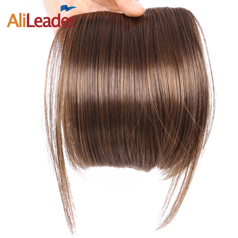 6 Inch Clip Ins Short Straight Front Neat Wedding Synthetic Hair Bang