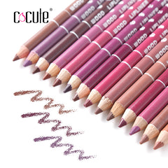 12/14Pcs Colors Professional Waterproof Lip Pencil
