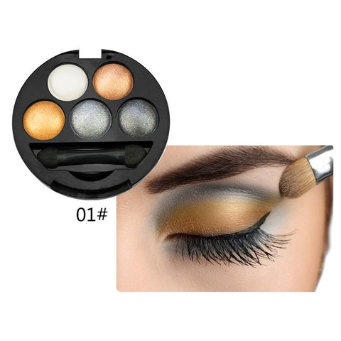 5 Colors Professional Pigment Eye shadow Palette