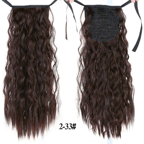 Long Curly Synthetic Heat Resistant Ponytail