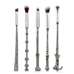 Image of High Quality Harry Potter Metal Makeup Brush Set - 5 pieces