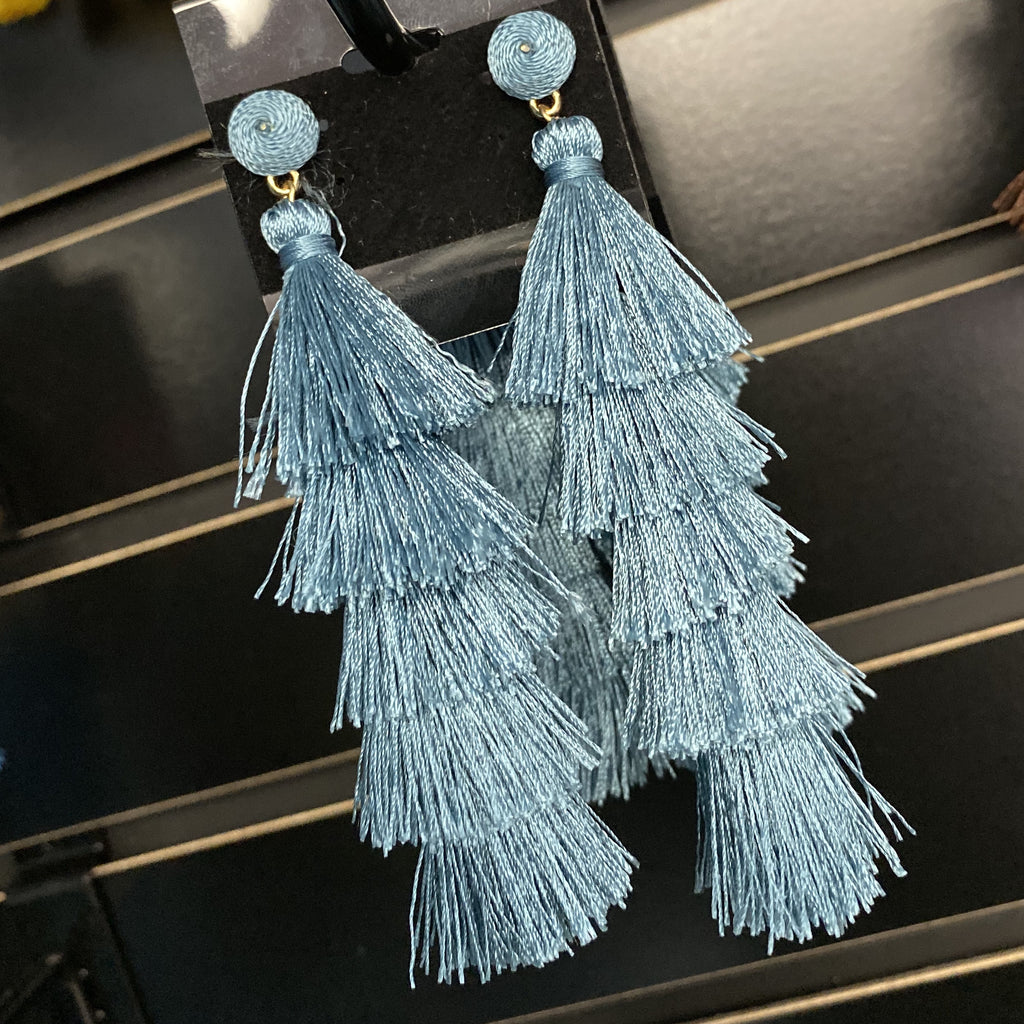Teal Party Earrings