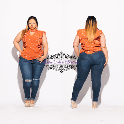 Orange Jen Top