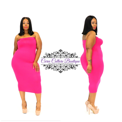 Fuchsia Monea Dress