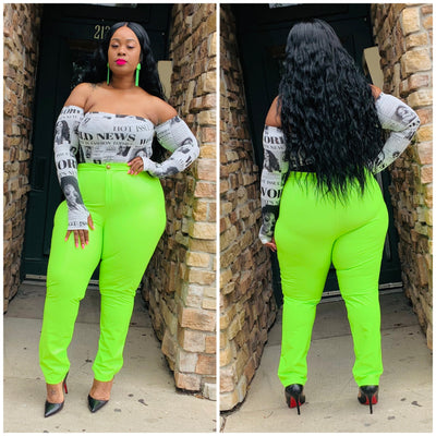 Lime Licorice Pant