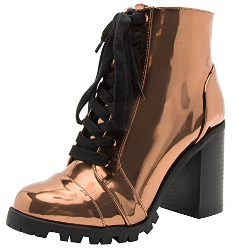 Closed Toe Chunky Stacked Ankle Bootie