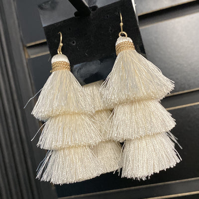 Ivory Party Earrings