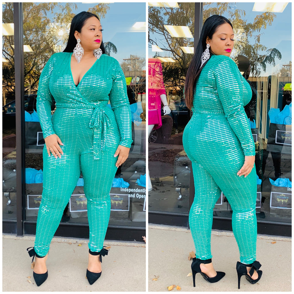 Green Arell Jumpsuit