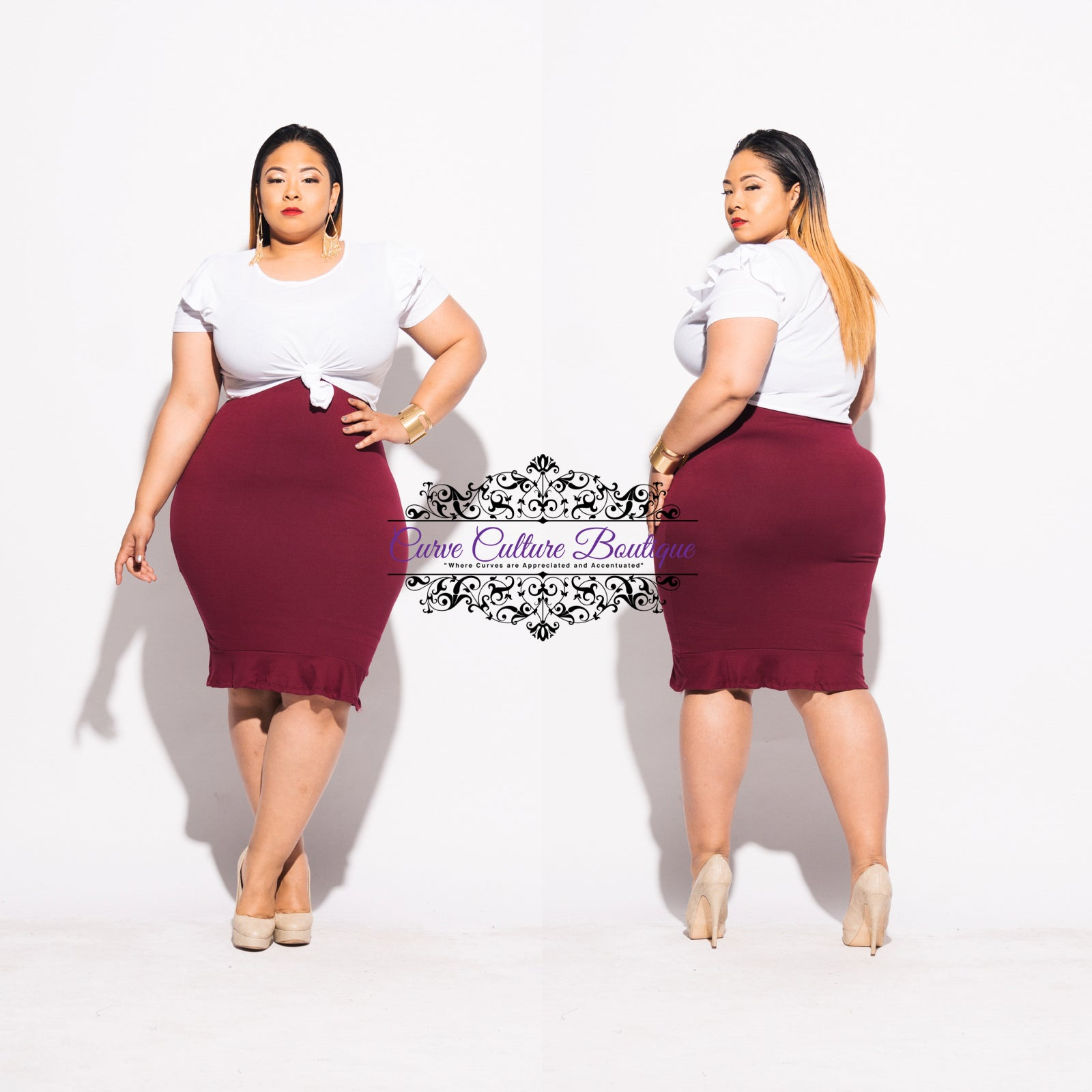 Burgundy  Halley Skirt