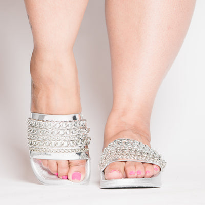 Silver Chained Slides