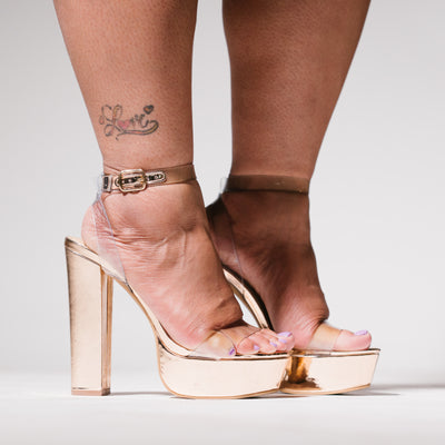 Rose Gold Lydia Heel