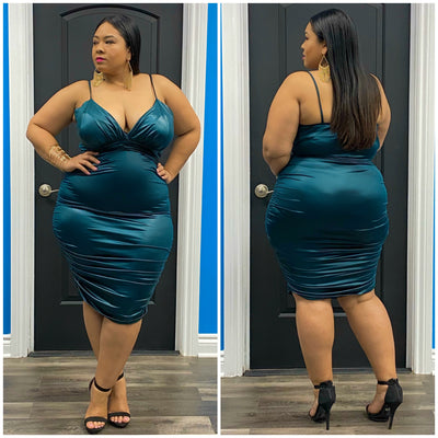 Teal Jia Dress