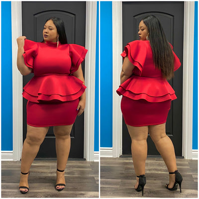 Red Rissa Dress