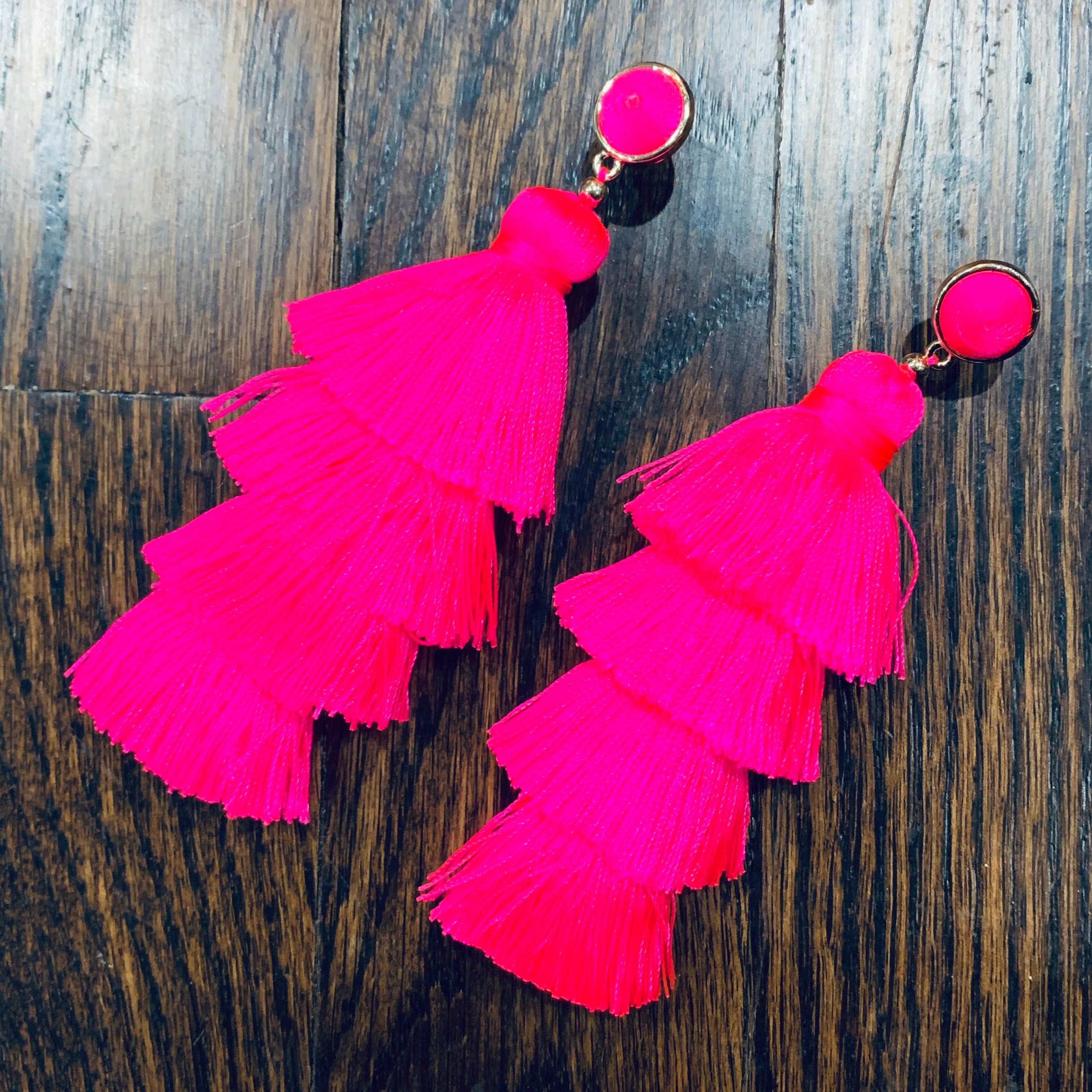 Hot Pink Party Earrings