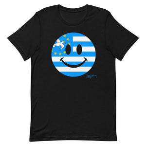 Smile Face Ambazonia Flag Unisex T-Shirt Signed By President Sisiku