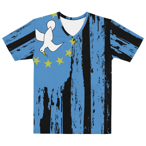 V Neck All-Over Ambazonia Flag T Shirt