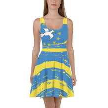 Yellow Ambazonia Skater Dress