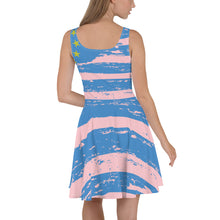 Pink Ambazonian Flag Skater Dress