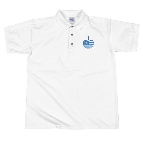 I love Ambazonia Embroidered Polo Shirt