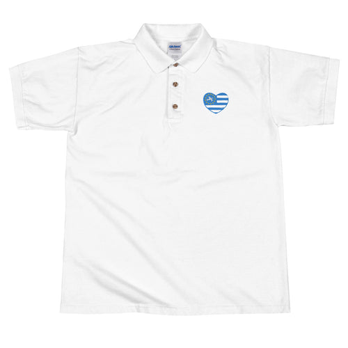 Love Ambazonia Embroidered Polo Shirt