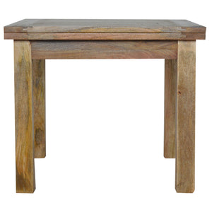 Rustic Oak Extendable Dining Room Table