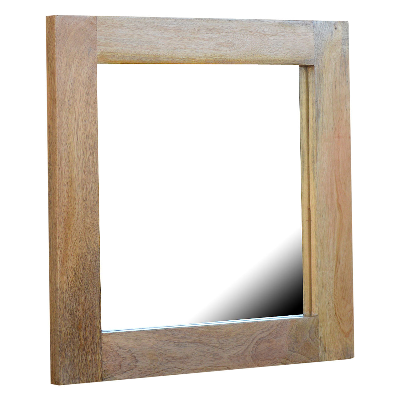 Rustic Square Framed Wall Mirror 45x45x5cm