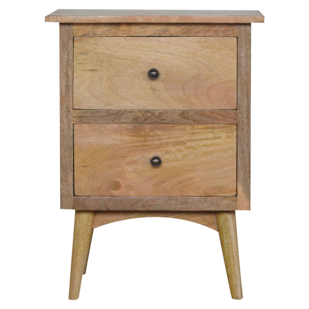 Alexandra Rustic Oak Bedside Table