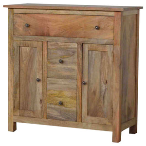 Rustic Oak Style Chest of Drawers - 78x80x35cm