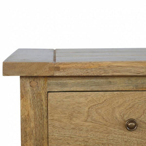 Rustic Country Style 3 Drawer Wooden Bedside Table 60x45x36cm