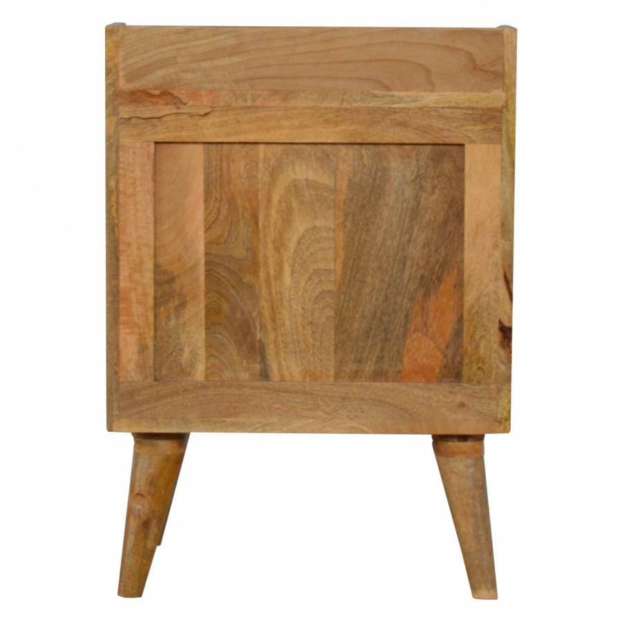 Rustic/Shabby Chic Modern and Contemporary Painted 3 Drawer Wooden Bedside Table 60x45x35cm