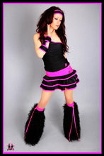 Shimmy Black & Purple Outfit
