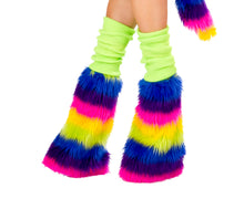 Rainbow Pony Rave Costume Leg Warmers